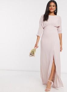 Różowa sukienka Tfnc z długim rękawem