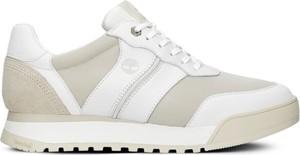Buty sportowe Timberland sznurowane z płaską podeszwą ze skóry
