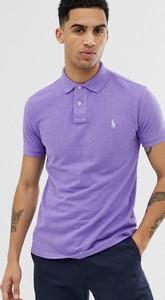 Fioletowy t-shirt POLO RALPH LAUREN z krótkim rękawem