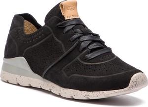 Czarne buty sportowe UGG Australia sznurowane ze skóry