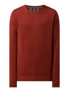 Czerwony sweter Lerros z bawełny w stylu casual