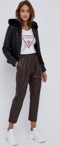 Bluzka Guess z długim rękawem z okrągłym dekoltem w stylu casual