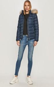 Granatowa kurtka Tommy Jeans w stylu casual