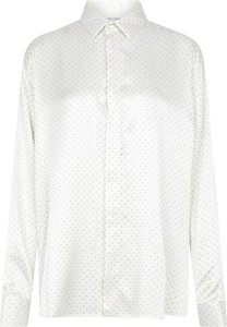 Koszula SAINT LAURENT z długim rękawem z klasycznym kołnierzykiem z jedwabiu