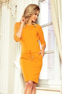 Sukienka NUMOCO z długim rękawem midi w stylu casual