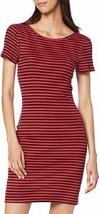Sukienka amazon.de dopasowana mini z okrągłym dekoltem