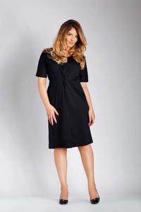 Sukienka Nommo z krótkim rękawem dopasowana