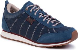 Granatowe buty sportowe Jack Wolfskin sznurowane