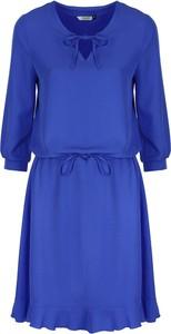 Niebieska sukienka Colett z długim rękawem mini