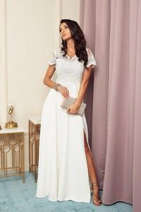 Sukienka Marconifashion z krótkim rękawem maxi