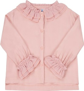 Różowa koszula dziecięca Mayoral z długim rękawem