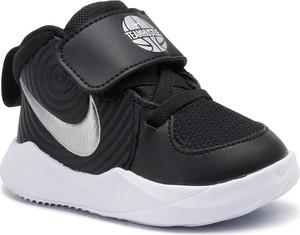 Czarne buciki niemowlęce Nike sznurowane