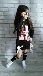 Czarna tunika dziewczęca Igomil