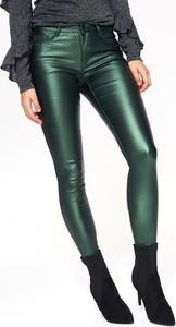 Zielone spodnie Top Secret w młodzieżowym stylu