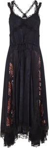 Czarna sukienka Koché maxi z dekoltem w kształcie litery v asymetryczna