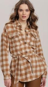 Brązowa koszula Renee w stylu casual