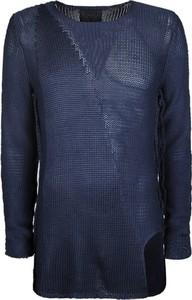 Niebieski sweter Barbarossa Moratti z dzianiny