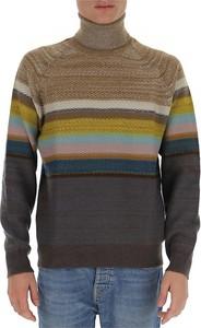 Zielony sweter Missoni z golfem z wełny