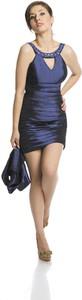 Niebieska sukienka Fokus mini dopasowana
