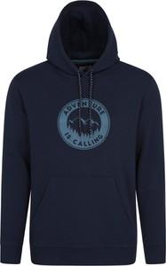Niebieska bluza Mountain Warehouse z bawełny w młodzieżowym stylu