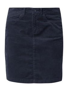 Granatowa spódnica edc by Esprit z bawełny mini