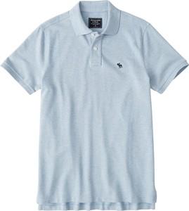 Niebieska koszulka polo Abercrombie & Fitch w stylu casual z krótkim rękawem z dżerseju