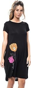 Sukienka amazon.de z okrągłym dekoltem oversize w stylu casual