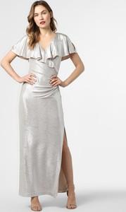 Srebrna sukienka Ralph Lauren maxi kopertowa
