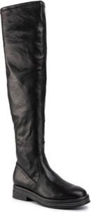 Czarne kozaki Jenny Fairy z płaską podeszwą