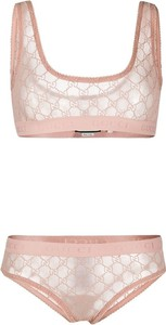Różowy komplet bielizny Gucci