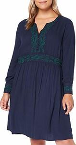 Sukienka amazon.de z dekoltem w kształcie litery v z długim rękawem