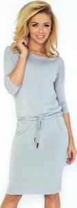 Sukienka NUMOCO z długim rękawem midi sportowa