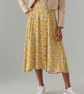 Żółta spódnica Mohito midi