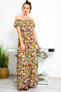 Sukienka Olika hiszpanka z krótkim rękawem maxi