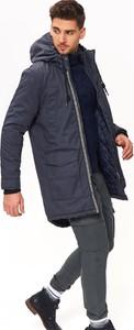 Granatowa kurtka Top Secret w stylu casual