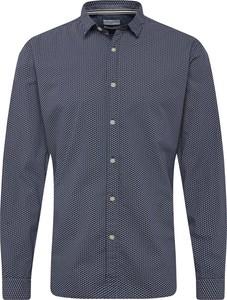 Granatowa koszula Esprit z długim rękawem