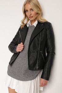 Czarna kurtka Renee z tkaniny w stylu casual