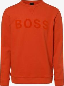 Pomarańczowa bluza Hugo Boss w stylu casual