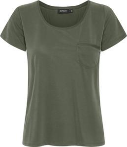 Zielony t-shirt Soaked in Luxury z krótkim rękawem z okrągłym dekoltem