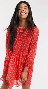 Sukienka Asos mini z długim rękawem koszulowa