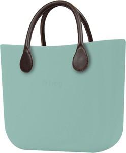 Turkusowa torebka O Bag duża matowa do ręki