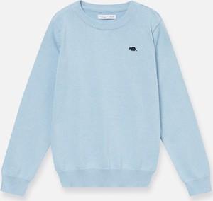 Turkusowy sweter Sinsay z bawełny