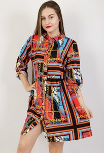 Sukienka Olika w stylu casual z kołnierzykiem