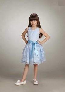 Niebieska sukienka dziewczęca Małami