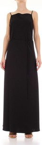 Czarna sukienka Calvin Klein bez rękawów maxi