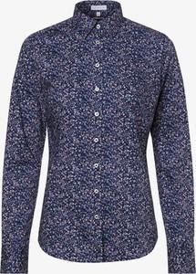 Niebieska koszula brookshire z długim rękawem