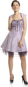 Sukienka Fokus z tiulu z dekoltem w kształcie litery v mini