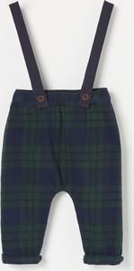 Zielone spodnie dziecięce Reserved w krateczkę dla chłopców