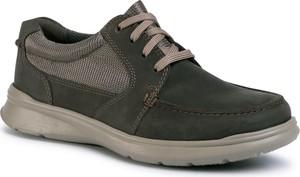Zielone buty sportowe Clarks sznurowane