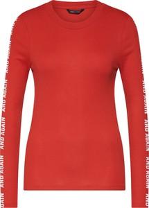 Czerwona bluzka Only z długim rękawem